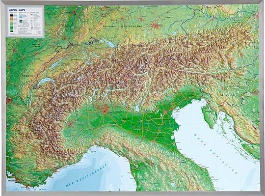 3d Reliefkarten Der Alpen Eine Ubersicht